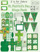 St Patrick's Day Mega Pack - Activities & Decorations! Editable! Z is for Zebra