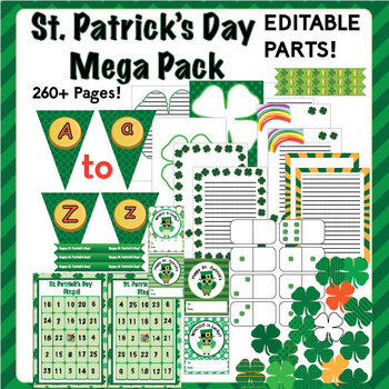 St Patrick's Day Mega Pack - Activities & Decorations! Edi