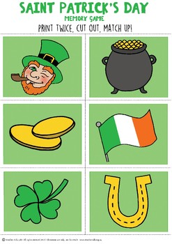 St Patricks Day Memory Game