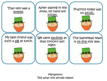 St. Patrick's Day Metaphor Freebie