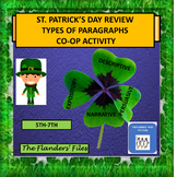 St. Patrick's Day Middle Level Identify the Type of Paragraphs