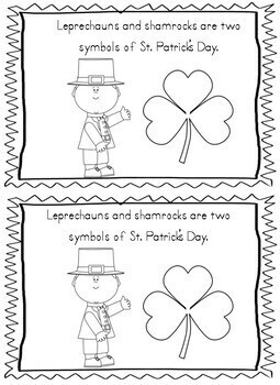 St. Patrick's Day Differentiated Sight Word Emergent Readers w/ worksheets
