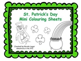 St. Patrick's Day Mini Colouring Sheets