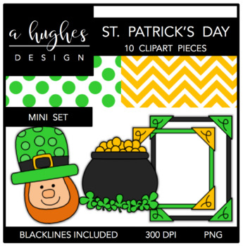 St. Patrick's Day Mini Clipart Bundle {A Hughes Design}
