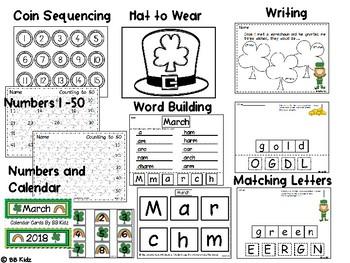 St. Patrick's Day Mini Unit {Math / Language for Kindergarten}