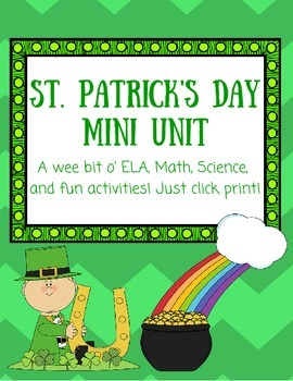 St. Patrick's Day Mini Unit - No Prep!