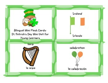 St. Patrick's Day Mini Unit for Young Learners (English and Spanish)