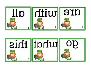 St. Patrick's Day Mirrored Sight Words