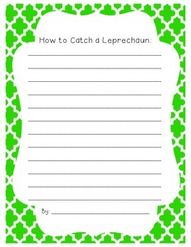 St. Patrick's Day Missing Leprechaun Writing Activity