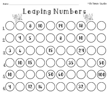 St. Patrick's Day Missing Numbers Worksheet