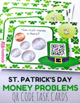 St. Patrick's Day Money QR Code Task Card Fun