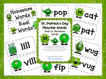 St. Patrick's Day-Monster Words-Real vs. Nonsense