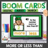 St. Patricks Day More or Less Than 15 Boom Cards