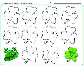 St. Patrick's Day: Morning Bell Work, Worksheets, Letters, Tracing, Numbers