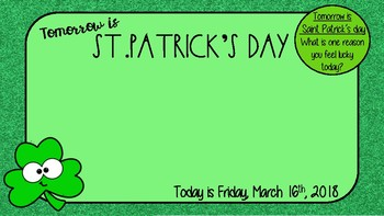 St.Patricks Day Morning Message Freebie