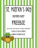 St. Patrick's Day Morning Paper Freebie!