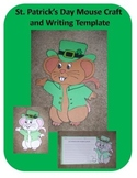 St. Patrick's Day Mouse Craft and Writing Template