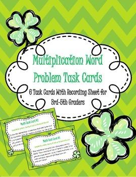 St. Patrick's Day Multi Step Word Problem Task Cards- CC Aligned