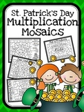 St. Patrick's Day Multiplication Mosaics-Fun Fact Practice!