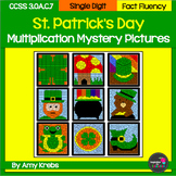 St. Patrick's Day Multiplication Mystery Pictures