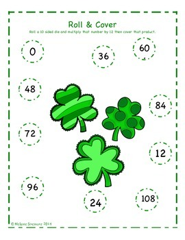 St. Patrick's Day Multiplication Roll and Cover
