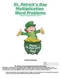 St. Patrick's Day Math- Multiplication Word Problems-Commo