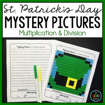Mystery Pictures St. Patrick's Day--Multiplication and Division