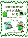 St Patrick's Day Multiplication and Division Practice
