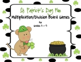 St. Patrick's Day Multiplication/Division Board Games:  Grades 3 - 5