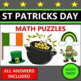 St Patricks Day Murder Mystery Style Math Puzzle