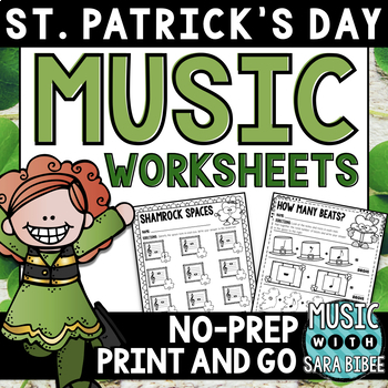 St. Patrick's Day Music Activities- Mega Pack- 35 Activities! 56 Pages