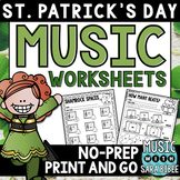 St. Patrick's Day Mega Pack of Music Worksheets- 76 Pages!