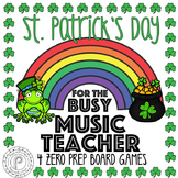 St. Patrick's Day Music Game Bundle: 4 no prep board games!
