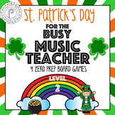 St. Patrick's Day Music Game Bundle Level  2: four games, zero prep!