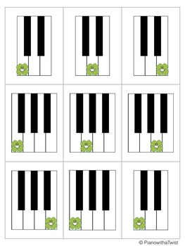 St. Patrick's Day Music Game: Crazy Clovers- Grand Staff and Piano Keys