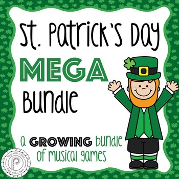 St. Patrick's Day Music Games Mega Bundle- a growing bundle!