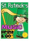 St. Patrick's Day Music Print & Go