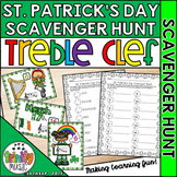 St. Patrick's Day Music Scavenger Hunt (Treble Clef)