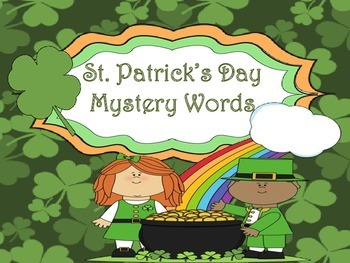 St. Patrick's Day Mystery Word Worksheet Activities