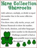 St. Patrick's Day: Name Collection Shamrocks
