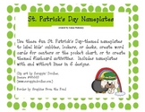 St. Patrick's Day Nameplates / Deskplates