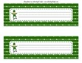 St. Patricks Day Nameplates Printable Classroom Decor