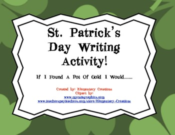 St. Patrick's Day Narrative Writing