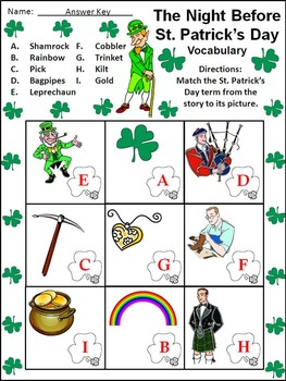 St. Patrick's Day Activities: The Night Before St. Patrick's Day Activity Packet