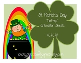 St. Patrick's Day No Prep Articulation Packet