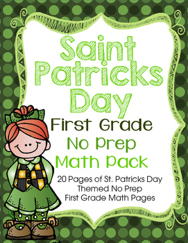 St. Patricks Day No Prep First Grade Math