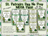 St. Patrick's Day No Prep, Print and Go MEGA Pack - for the upper grades