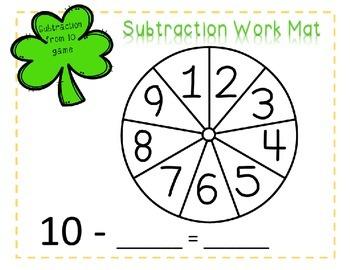 St. Patrick's Day No-Prep Subtraction Games