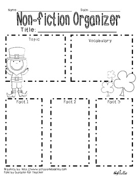 St. Patrick's Day Non-Fiction Graphic Organizer