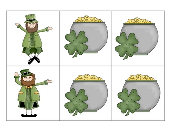 St. Patricks Day Nonsense Word Fluency Game, Literacy Center